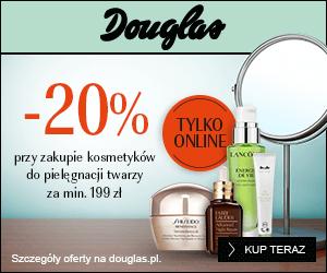 Kod rabatowy 20% w Douglas!