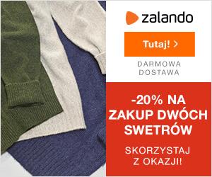 Kod rabatowy 20% na swetry męskie