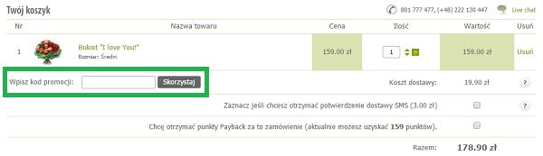 Jak wykorzystać kod rabatowy na EuroFlorist.pl