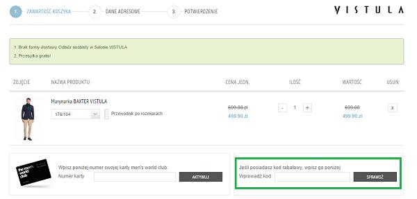 Jak wykorzystać kod rabatowy na Vistula.pl