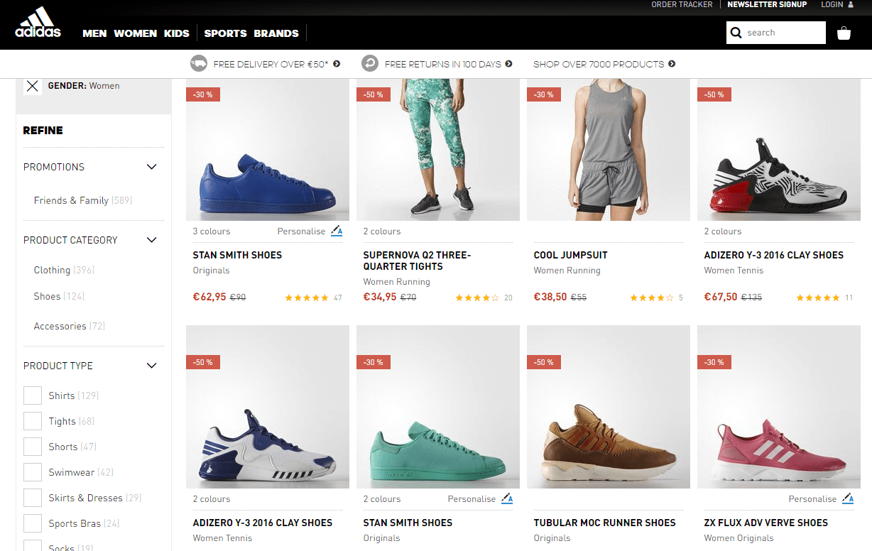 Descontos Adidas