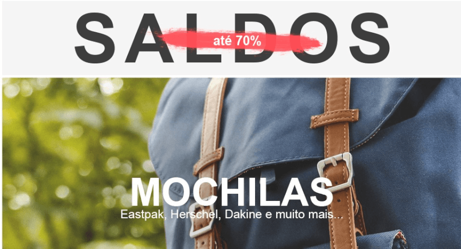 Saldos Bazar Desportivo - Mochilas