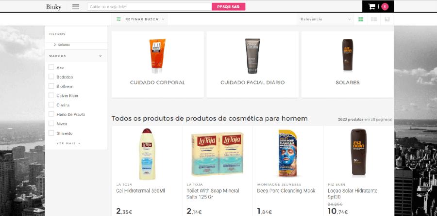 Vários descontos em produtos de cosmética masculina