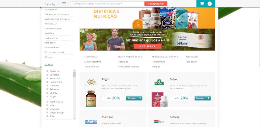 Descontos em vários produtos de dietética