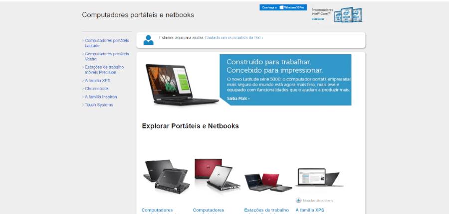 Vários modelos de portáteis e netbooks da Dell