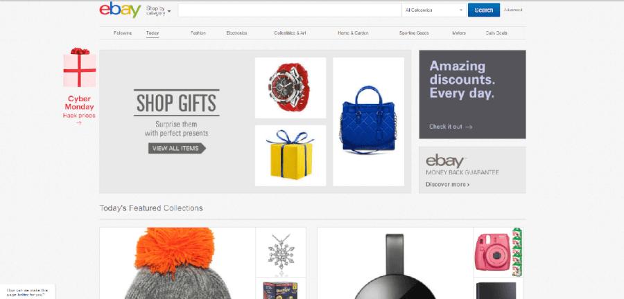 como navegar no site do Ebay