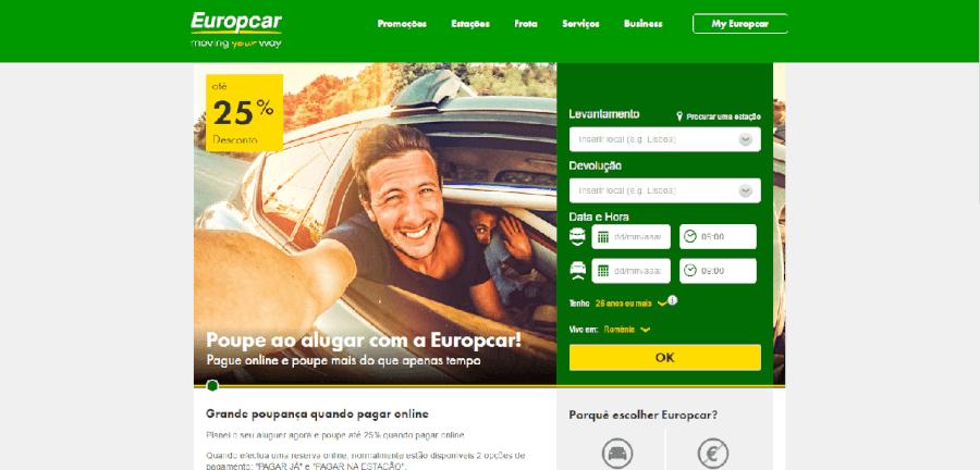 Grandes promoções e descontos na Europcar