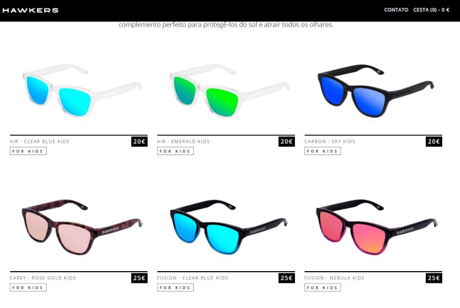 óculos de sol a 25€