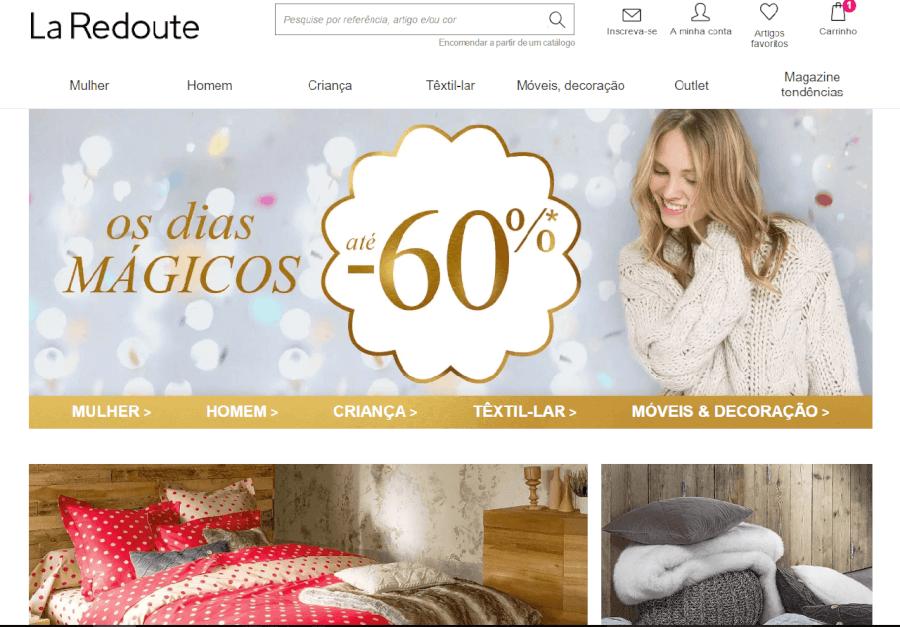 como navegar no site da La Redoute