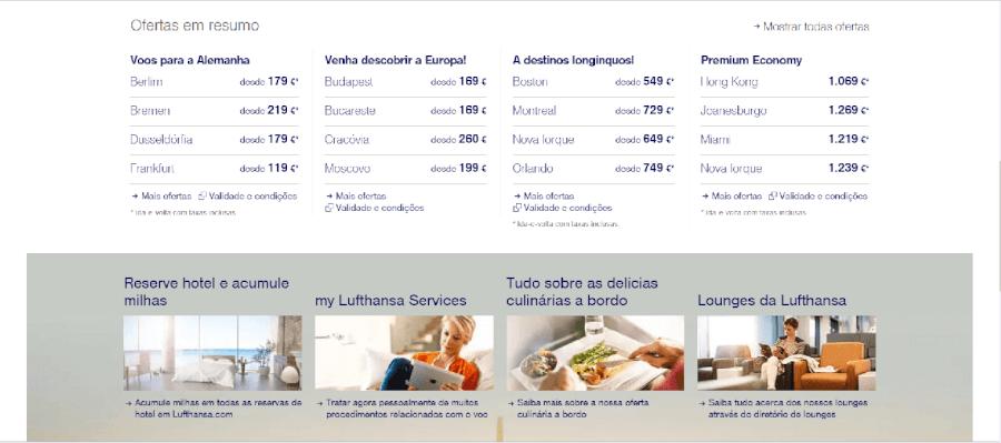 Diversas ofertas de voos com a Lufthansa