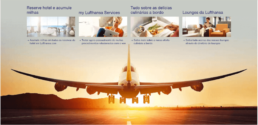 Diversas vantagens de voar com a Lufthansa
