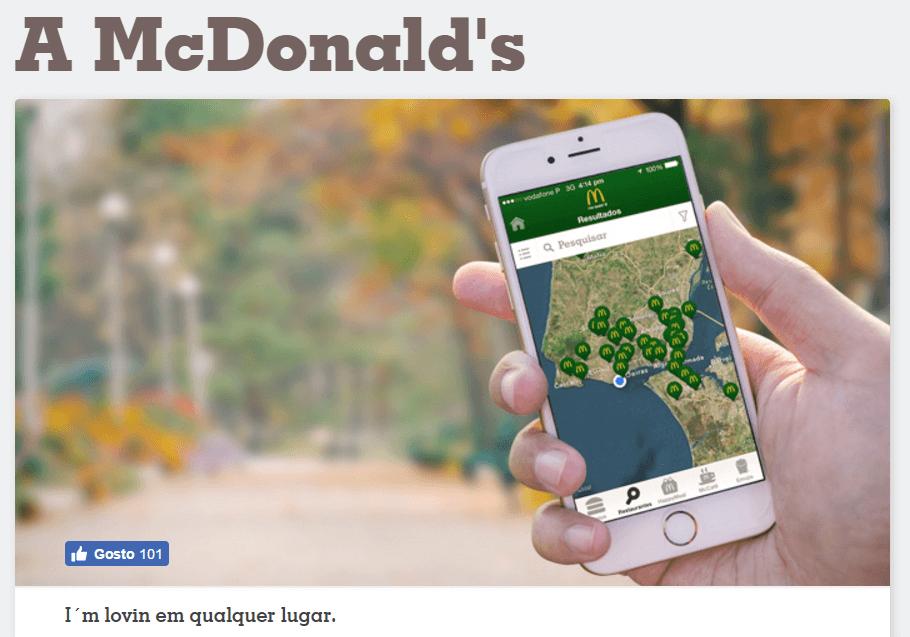 Encontre o seu McDonald's em qualquer lugar
