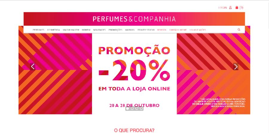 20% de desconto em compras online