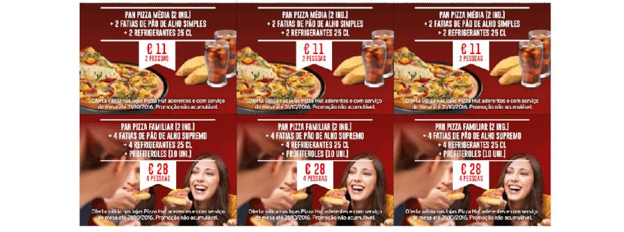 Várias promoções para aproveitar na Pizza Hut