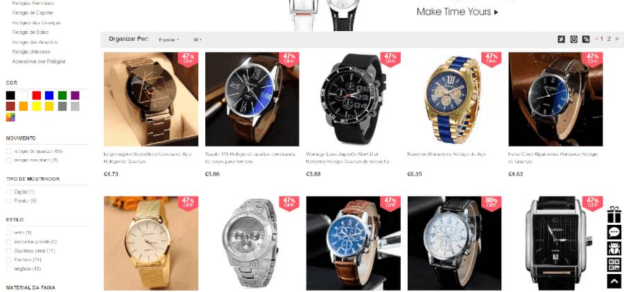 Descontos até 80% em relógios masculinos