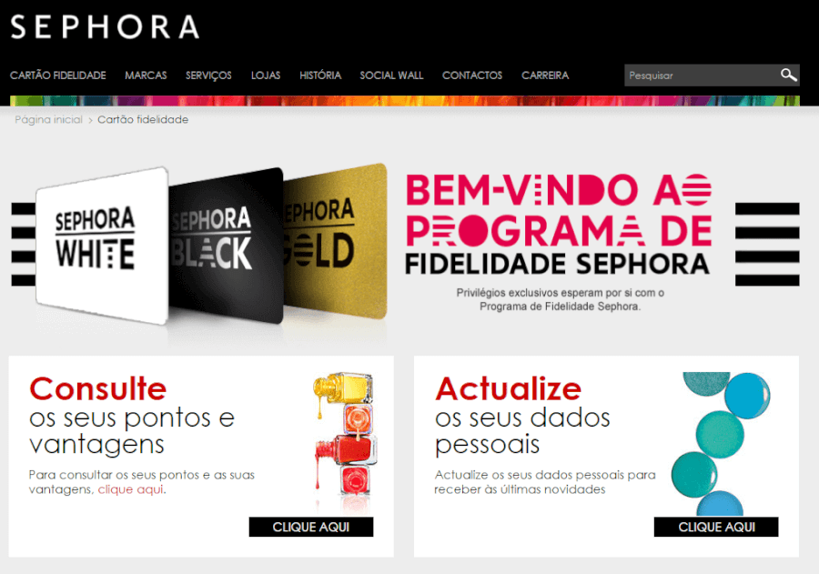 Programa de fidelidade Sephora