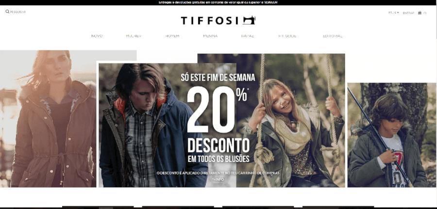 como navegar no site da Tiffosi