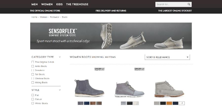 Várias botas de senhora a preços mais baixos na Timberland