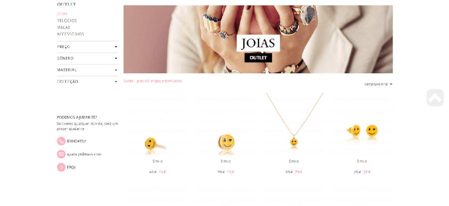 Descontos em diversas joias na Tous