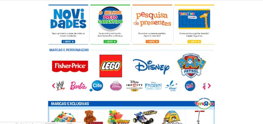 Diversas marcas à venda na ToysRus