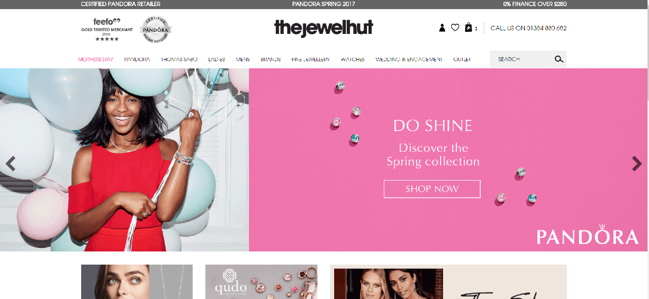 como navegar no site da The Jewel Hut