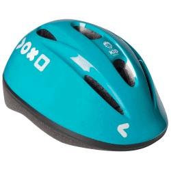 cască albastră de bicicletă