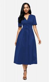 prezentare rochie albastră