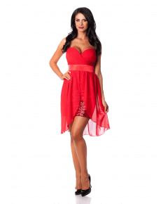 prezentare rochie roșie scurtă