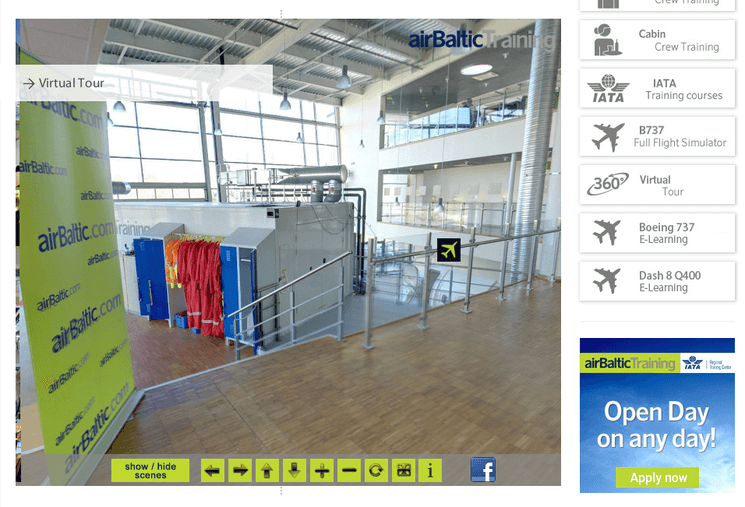 сайт AirBaltic
