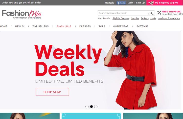 FashionMia — главная страница