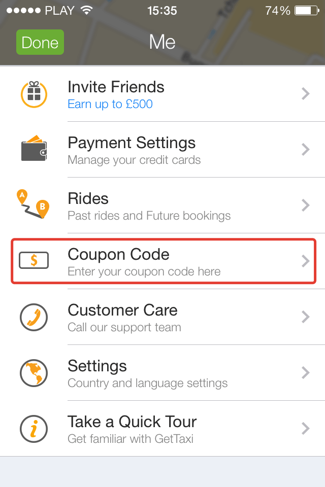 Coupon Code Gettaxi