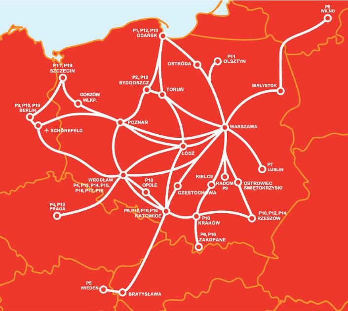 Новая карта PolskiBus с октября 2014