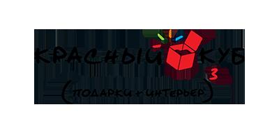 Логотип Красный куб прозрачный
