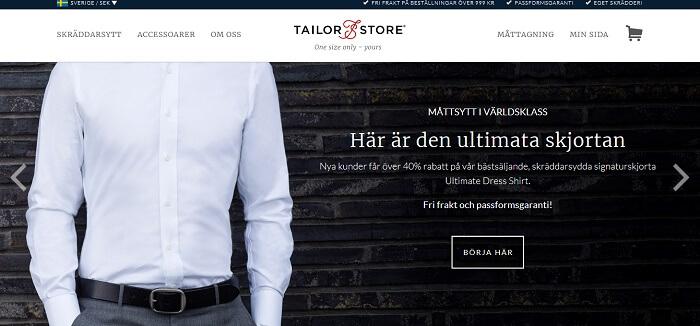 Hemsidan till Tail Store