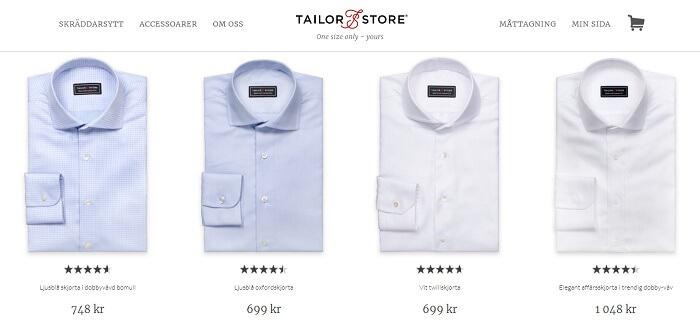 3 färdiga skjortor