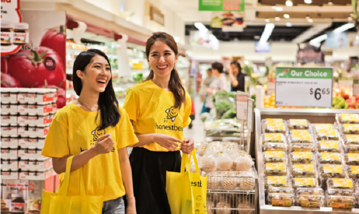 Shopping with Honestbee
