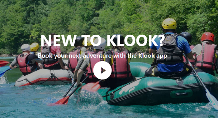 Sign up for Klook