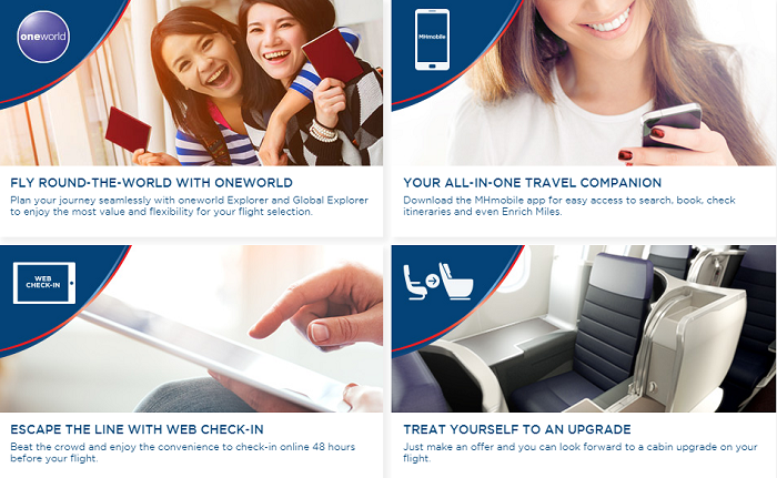 Malaysia Airlines' services
