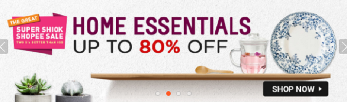 Even 80% off on home essentials