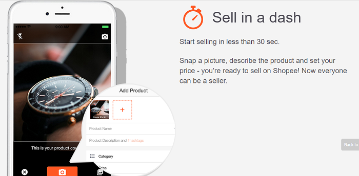 Sell your products on Shopee