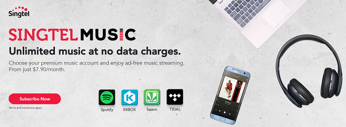 Music is what Singtel is all about