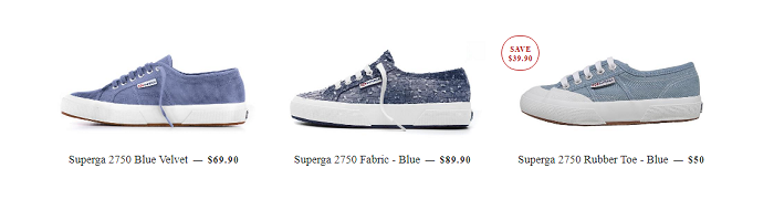 Blue collection at Superga