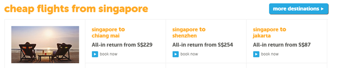 TigerAir cheap flights from Singapore