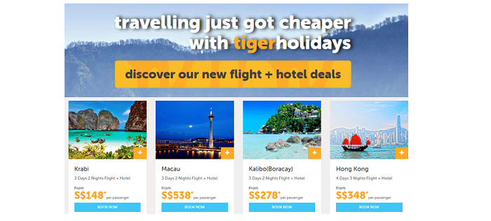 TigerAir holiday deals travelling on a budget