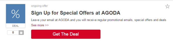 one of the Agoda's special offers at Picodi.sg