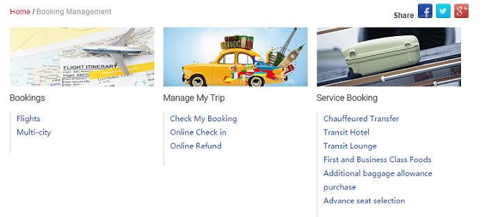 Manage your booking at Air China