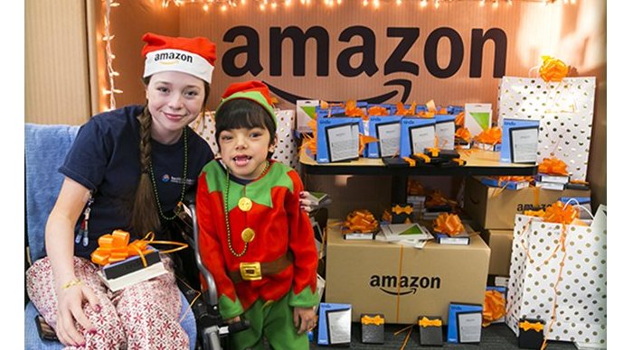 Amazon engages in many charitable actions