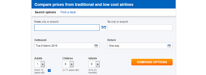 search for the best flights at Bravofly