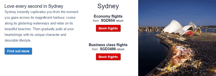 Fly to Sydney for less