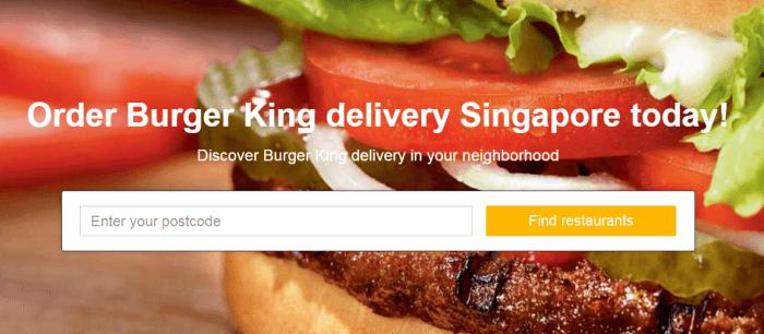 Burger King Singapore Delivery - Best Burger 2017